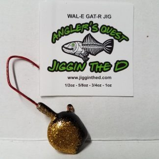 Wal-E-Gat-R Custom Jig Heads 3 Pack Sold by Lure Lipstick- Gold Fish
