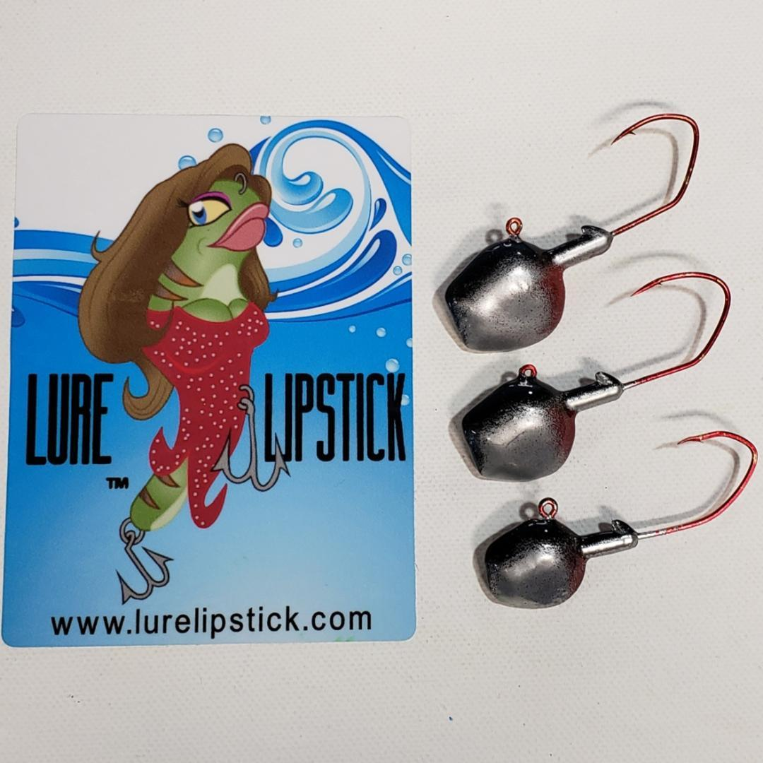 Wal-E-Gat-R Custom Jig Heads 3 Pack Sold by Lure Lipstick - Vampire
