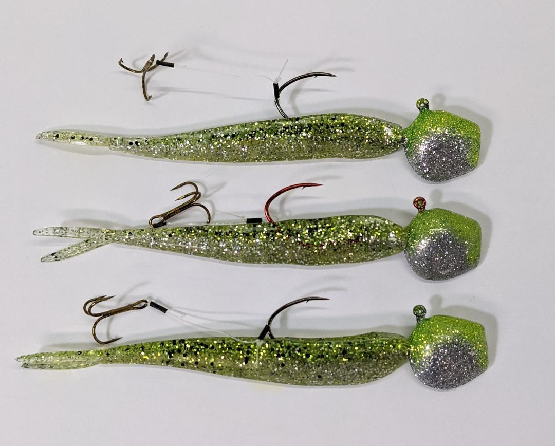 Lure Lipstick Walleye Ready Rigs 1/2oz or 3/4oz - Chartreuse Ice